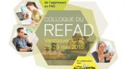 Colloque du REFAD : Les compétences essentielles de l'apprenant en formation à distance