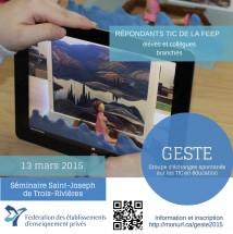 Rencontre GESTE 2015-affiche