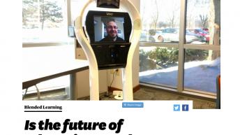 Un robot de téléprésence pour matérialiser l'apprentissage virtuel