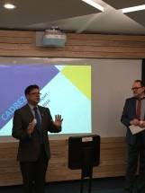 Jacques Cool, coordonnateur de CADRE 21, et Normand Brodeur, coordonnateur des services à l'enseignement à la FÉEP